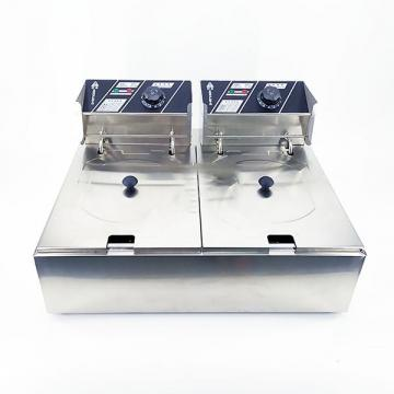 Cnix Double Tanks Double Baskets Stainless Steel Deep Fryer