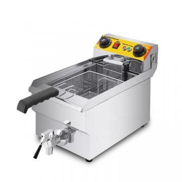 2-Tank 2-Basket Stainless Steel Gas Deep Fryer Snack Fryer